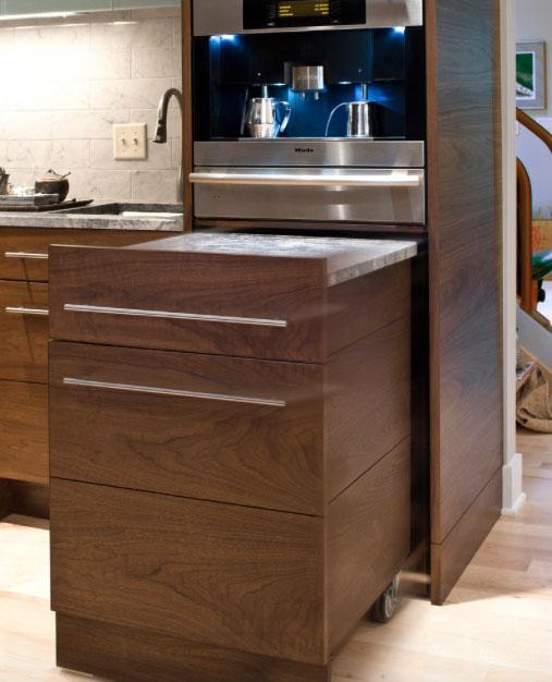 шкаф на колела в кухнята