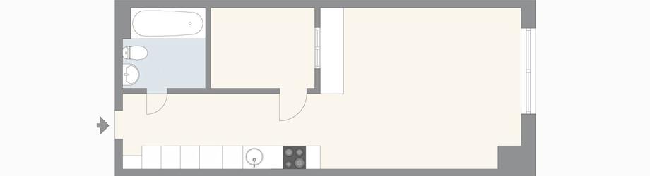 35 кв. м апартамент с отделена спалня в Стокхолм_2
