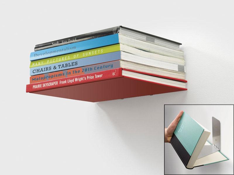 направи си сам рафтове - летящ рафт от книги