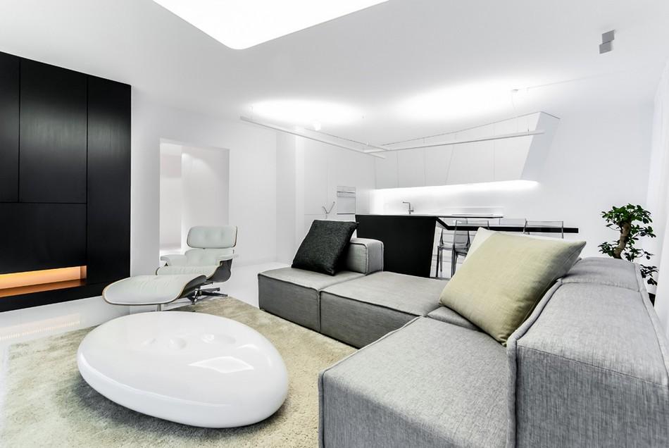 футуристичен дизайн на апартамент в Словакия_1