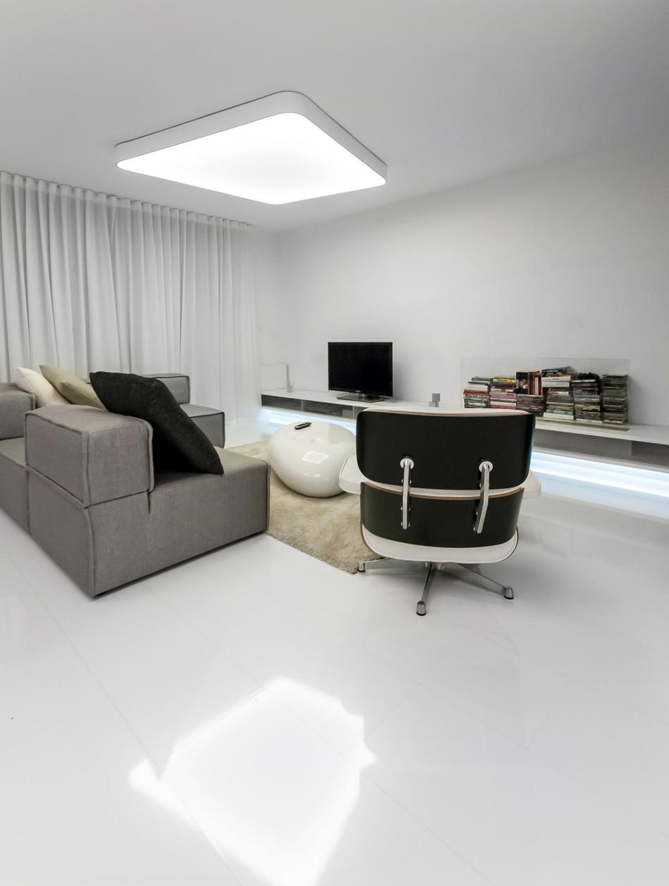 футуристичен дизайн на апартамент в Словакия_4