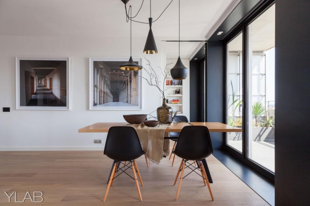 хол и кухня в едно_модерен дом Барселона_12