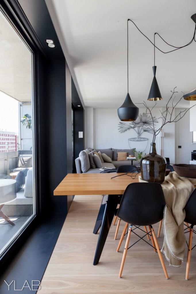хол и кухня в едно_модерен дом Барселона_13