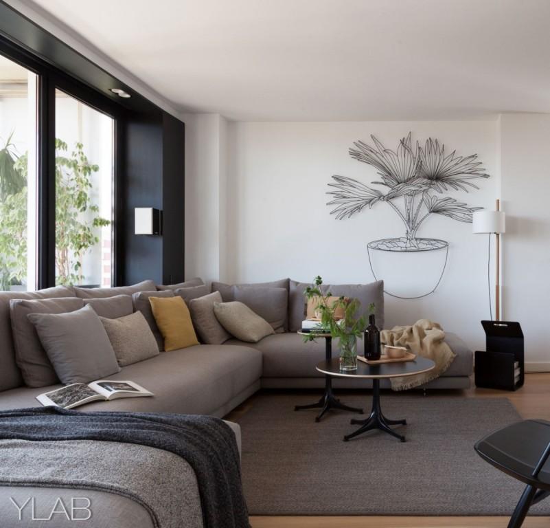 хол и кухня в едно_модерен дом Барселона_2