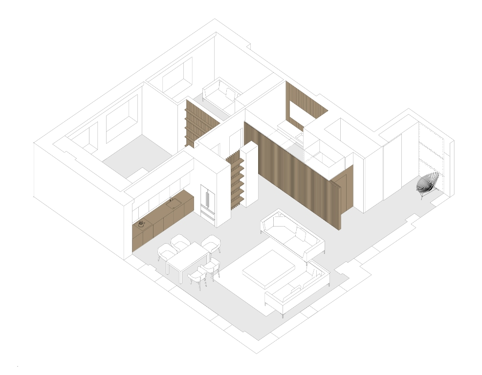 дървени панели модерен интериор_1