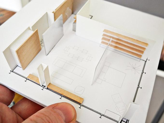 отворен план на модерно жилище_план