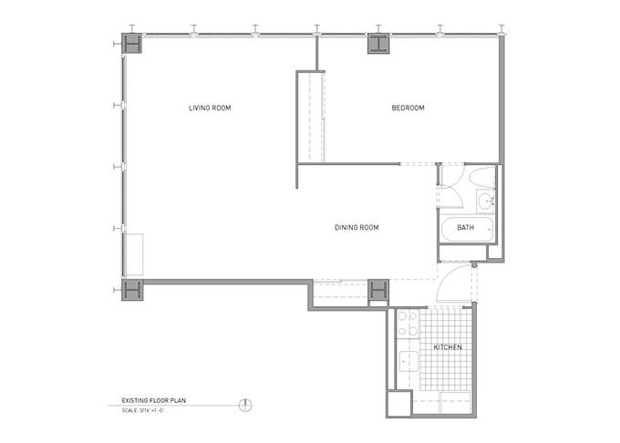 отворен план на модерно жилище_преди