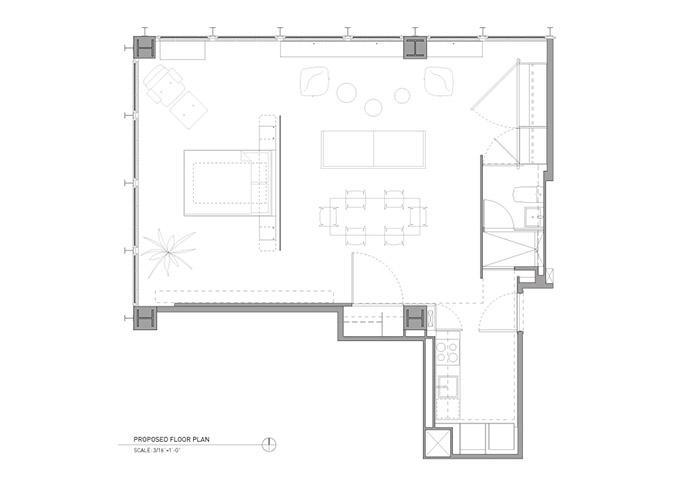 отворен план на модерно жилище_след