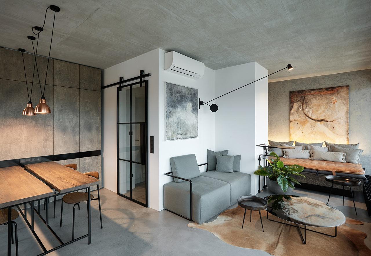 индустриален апартамент в Прага_1