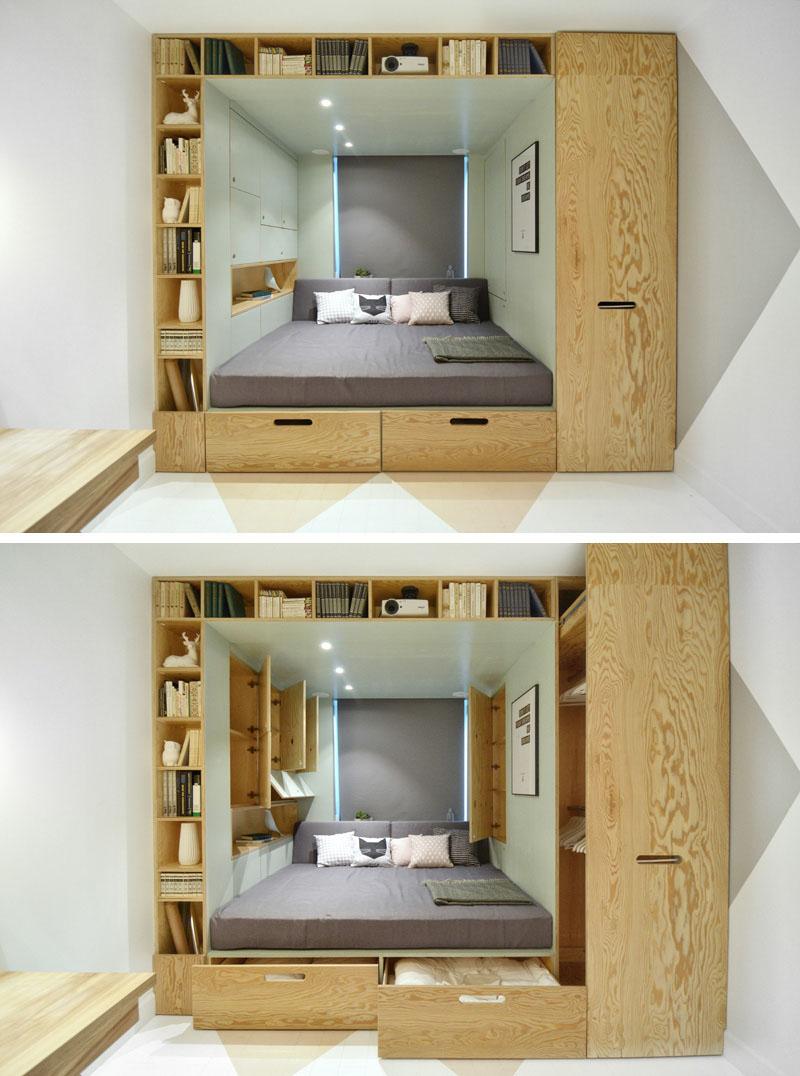 Легло в куб от шкафове