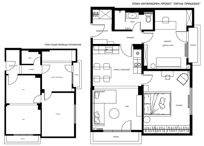 апартамент лятна приказка_план