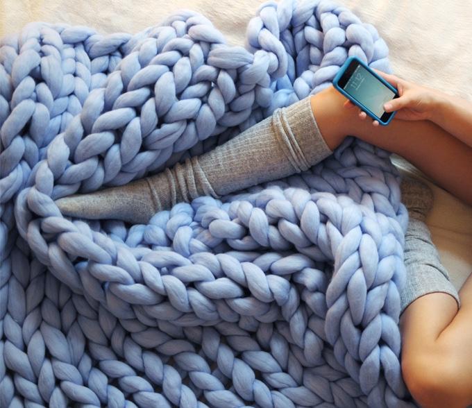 големи одеяла едра плетка мерино 13
