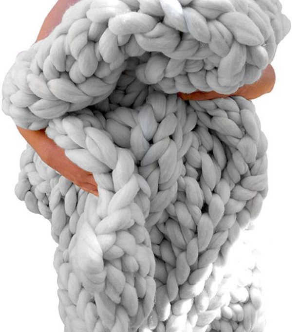 големи одеяла едра плетка мерино 4