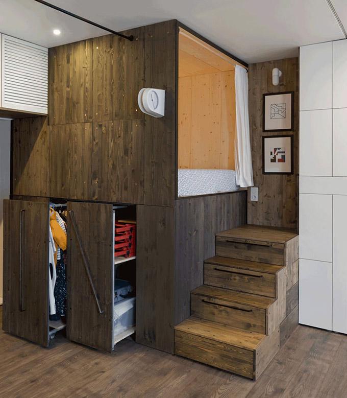 повдигната спалня малък 35 кв дом_16