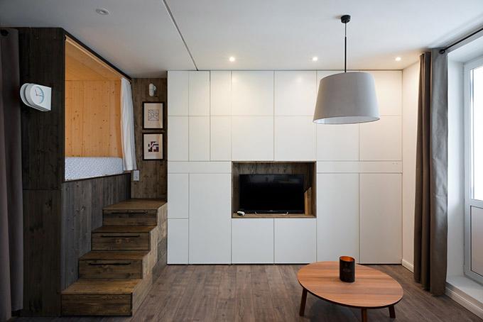 повдигната спалня малък 35 кв дом_3