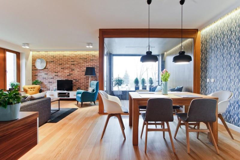 Стилен цветен интериор на апартамент_1