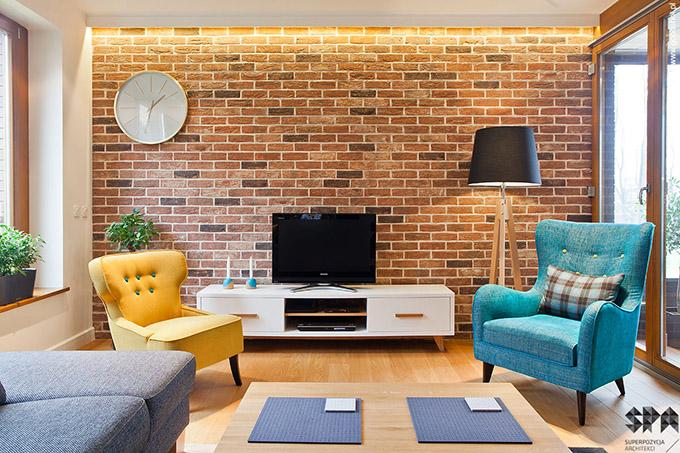 Стилен цветен интериор на апартамент_2_1