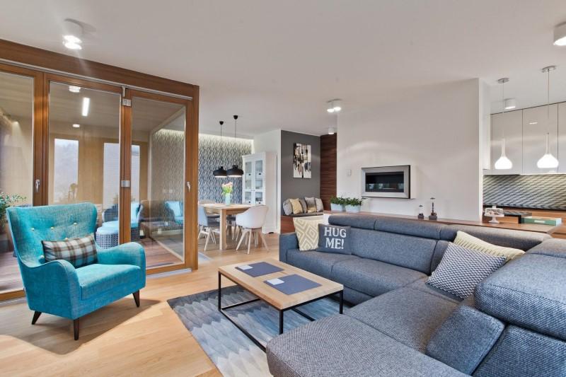 Стилен цветен интериор на апартамент_5