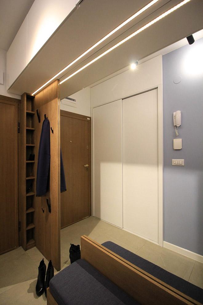 апартамент с изчистен интериор София_антре2