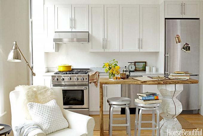 изцяло бяла кухня