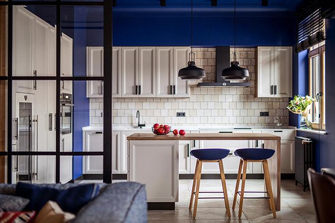 цветен класически интериор на апартамент_4