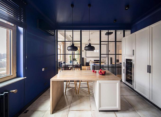цветен класически интериор на апартамент_5