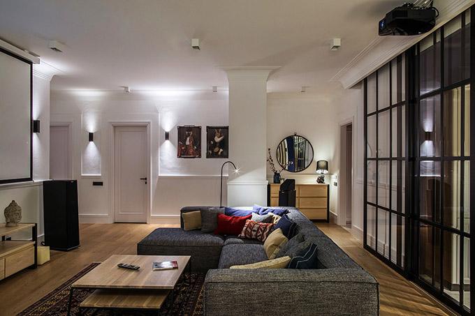 цветен класически интериор на апартамент_8
