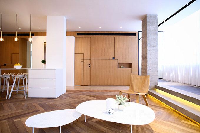 гардероби вместо прегради стени в 90 кв. м дом_7