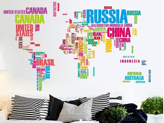 карта на света от имена на държави 3