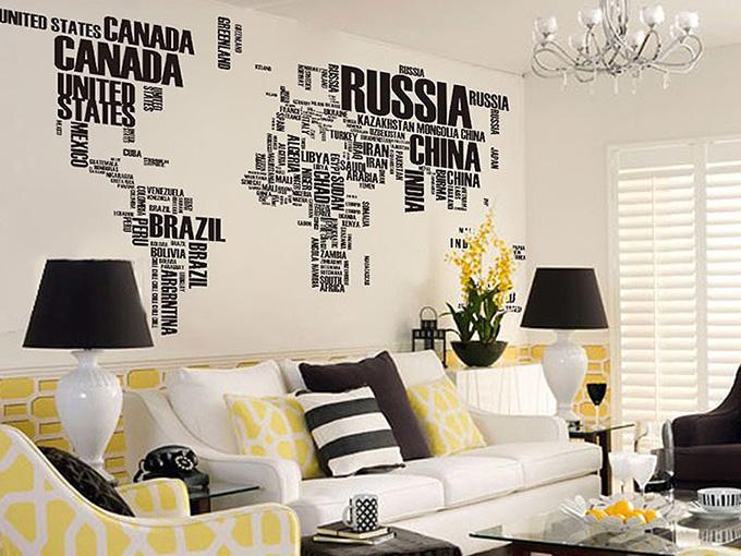 карта на света от имена на държави
