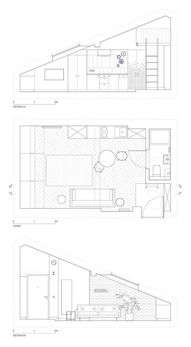 малко таванско студио София 19 кв. м_план 2