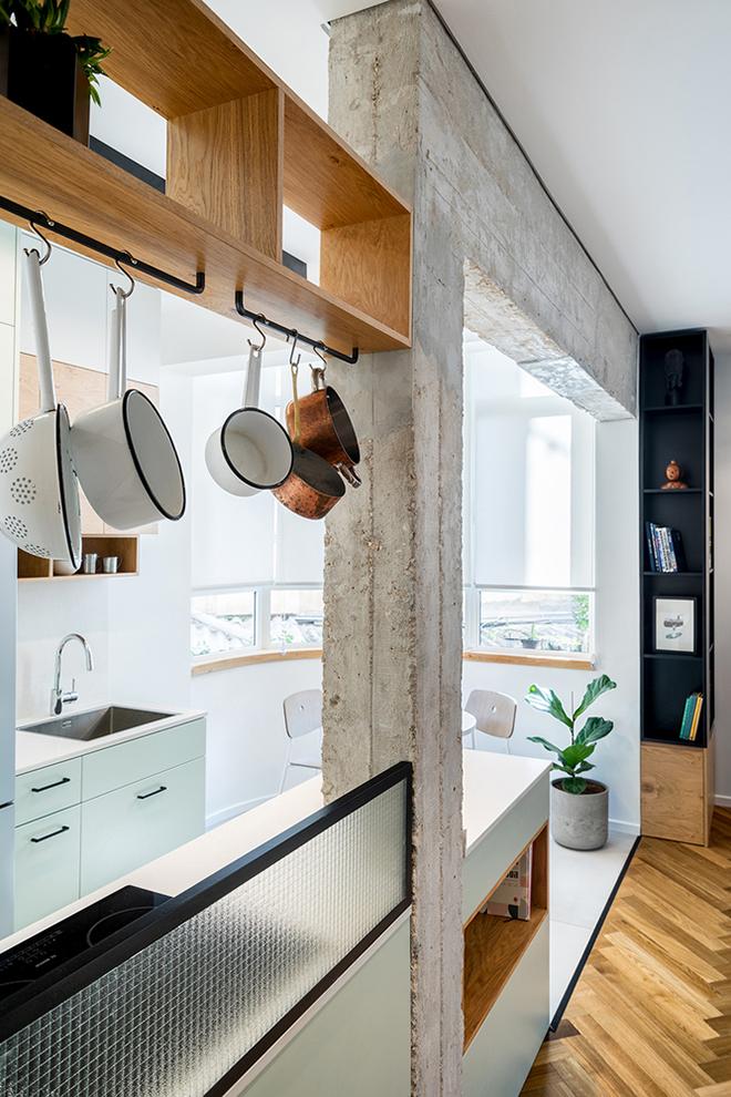 малък апартамент за живеене и работа 53 кв. м_кухня 2