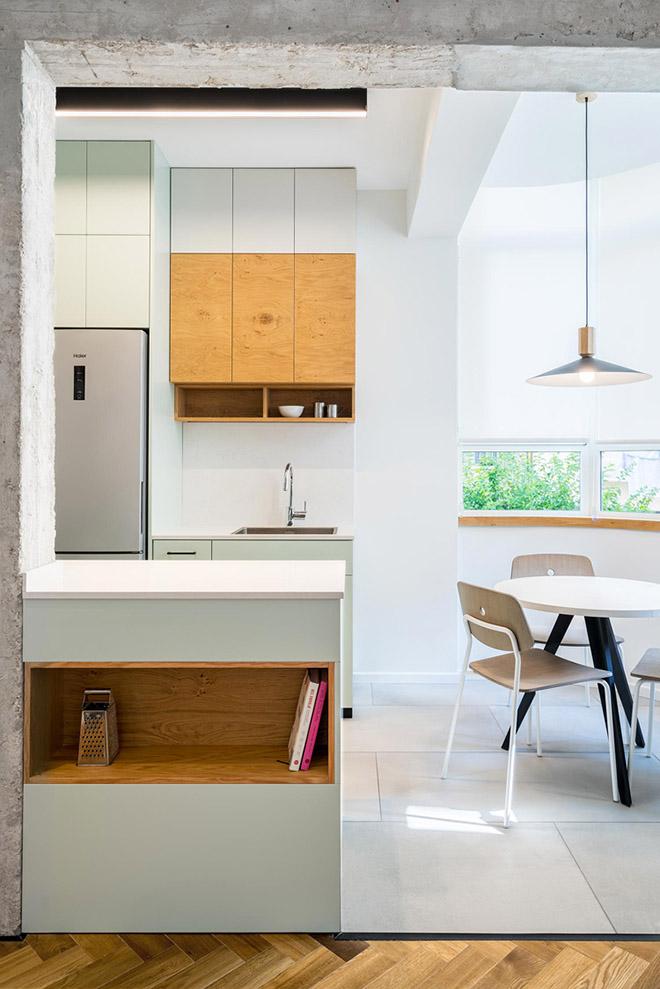 малък апартамент за живеене и работа 53 кв. м_кухня 4
