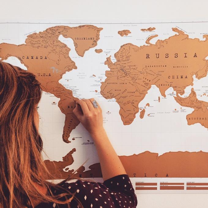 скреч световна карта