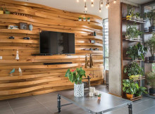 идея дървена стена