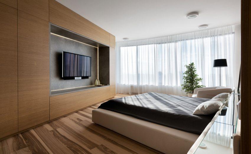 минималистичен апартамент силни контрасти зелено_11