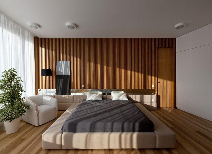 минималистичен апартамент силни контрасти зелено_13
