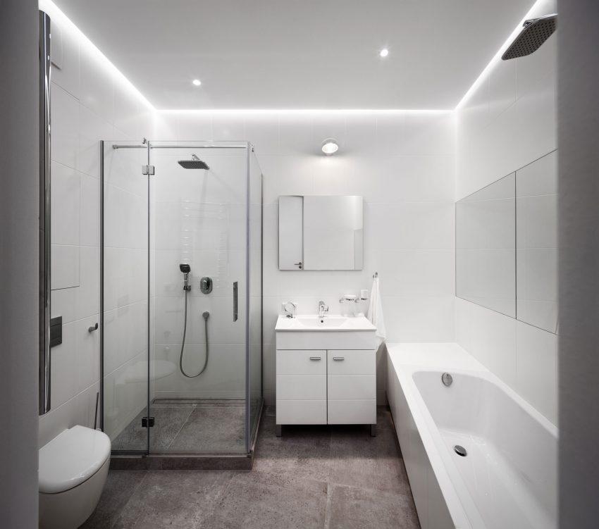 минималистичен апартамент силни контрасти зелено_15