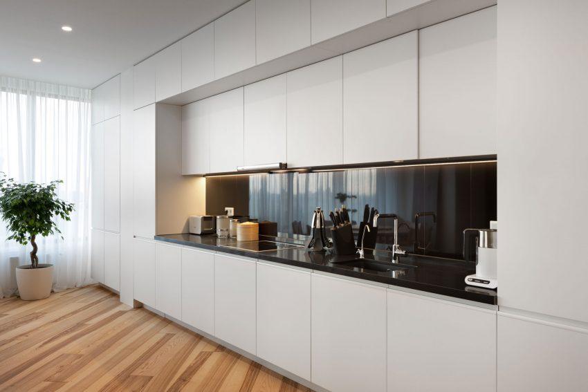 минималистичен апартамент силни контрасти зелено_7