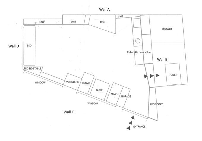 13 кв. м мини апартамент обзавеждане_16