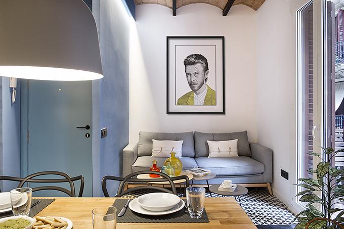 40 кв. м малък цветен апартамент в Барселона_24