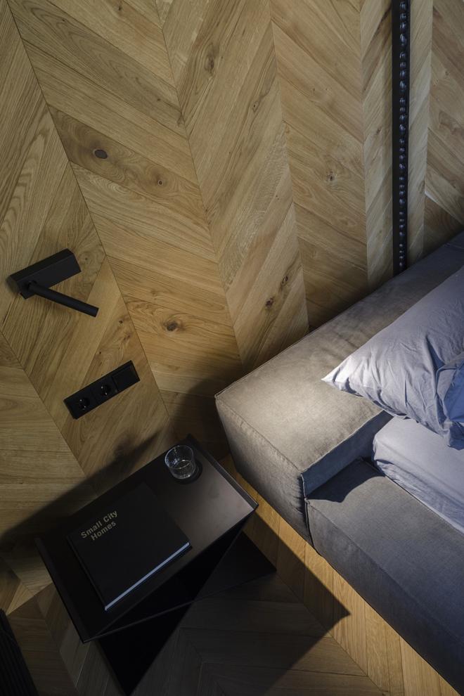 апартамент с тъмен, мъжки интериор_13