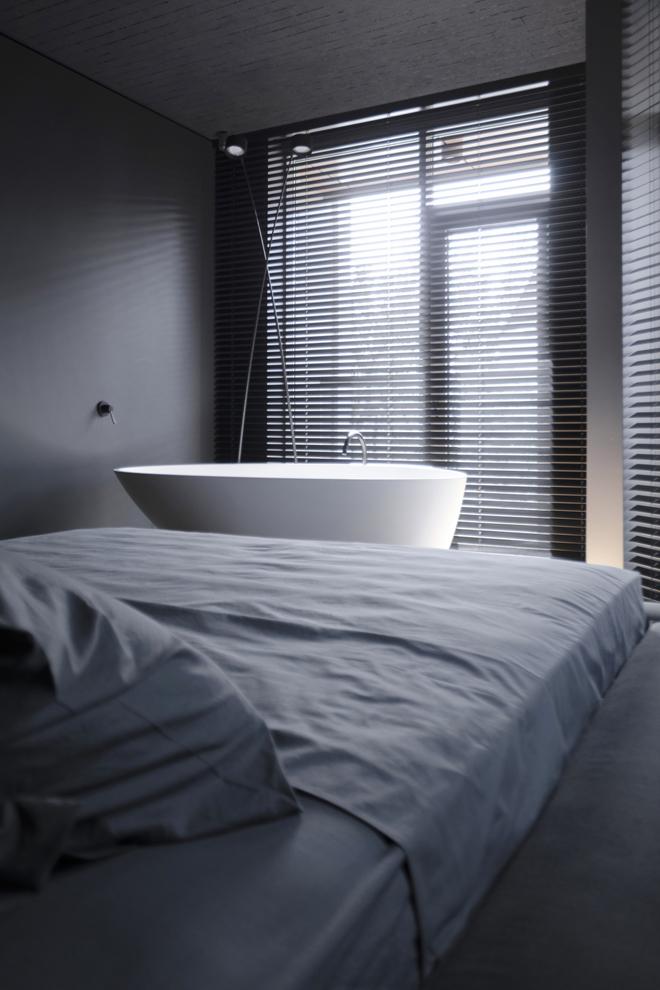 апартамент с тъмен, мъжки интериор_14