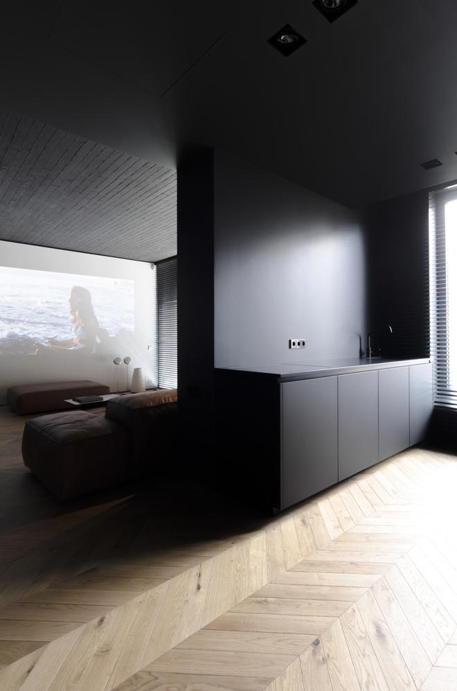 апартамент с тъмен, мъжки интериор_8