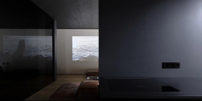 апартамент с тъмен, мъжки интериор_9