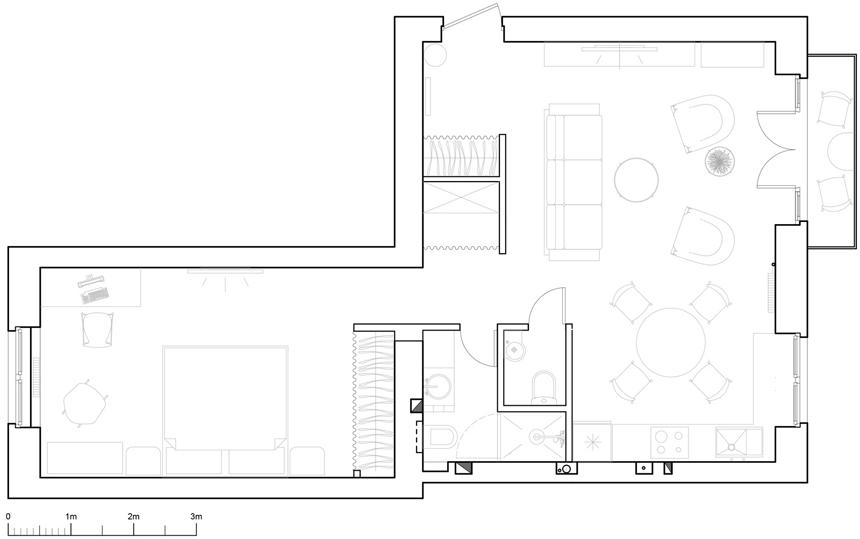 ретро модерен апартамент план