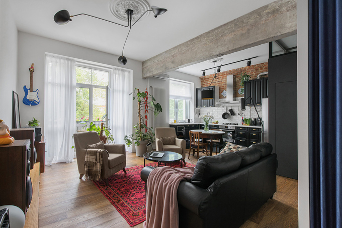ретро модерен апартамент 1