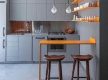 малка кухня сиво