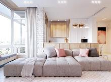 апартамент розово и бяло